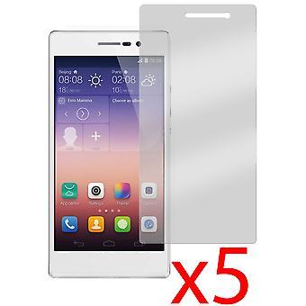 5x Protector de pantalla Protector de cubierta para Huawei Ascend P7