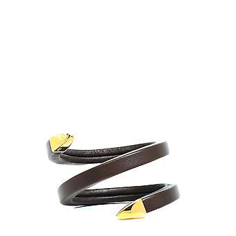 Bottega Veneta 608701vahua2113 Women's Brown Leather Bracelet