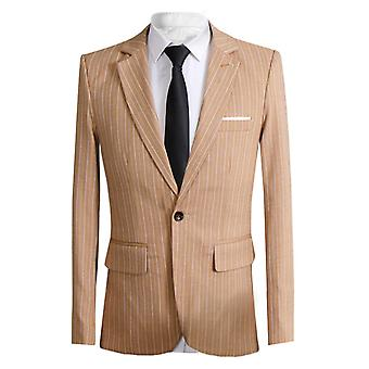 Allthemen Menăs Stripe Business Casual Suit Jacheta