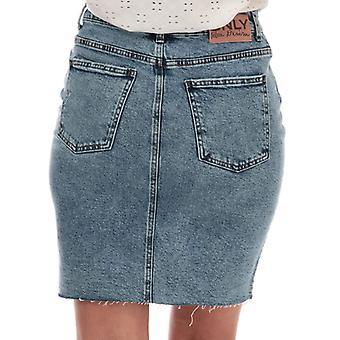 Women's Only Emily High Waist Denim Skirt in Blue