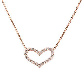 Latelita 925 argento amore cuore collana delicata rosa oro CZ romantici