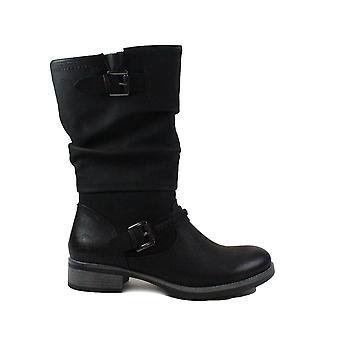 Rieker 98860-00 Schwarze Damen Mittel Kalb Stiefel