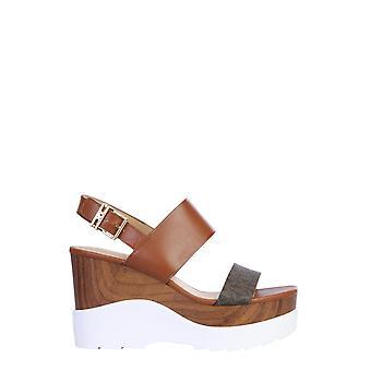 Michael By Michael Kors 40s0rhms6l230 Women-apos;s Brown Leather Sandals