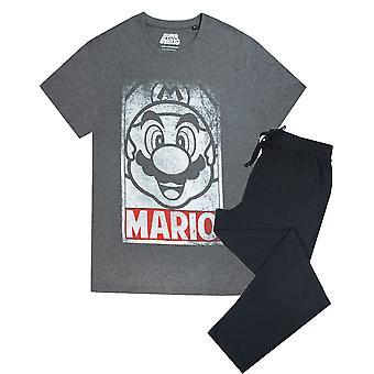 Super Mario Poster Men's Pyjama Short Sleeve T-Shirt & Lounge Pant Set