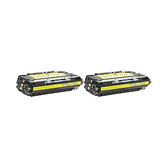 RudyTwos 2x Replacement for HP 311A Toner Unit Yellow Compatible with Colour LaserJet 3700, 3700dn, 3700dtn, 3700n