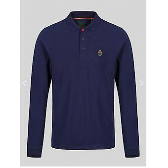 Lambretta Twin Tipped Polo Navy/Green/White