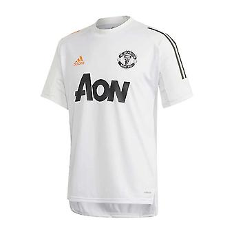 2020-2021 Man Utd Adidas Training Shirt (Alb) - Copii