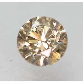 Cert 0.78 Carat Natural Fancy Brown VVS2 Round Brilliant Natural Diamond 5.7mm