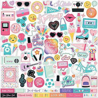 Echo Park Teen Spirit Girl 12x12 Inch Element Sticker 9TSG184014)