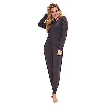 LingaDore neun Eisen Tier 5607-268 Frauen's Eisen grau Pyjama Set