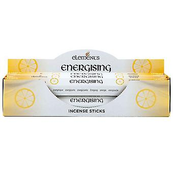 Elements Energising Incense Sticks (Box Of 6 Packs)