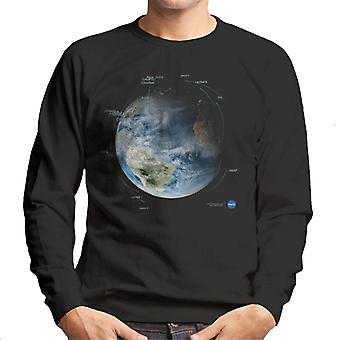 NASA Satellit Umlaufbahn Pfade Herren Sweatshirt