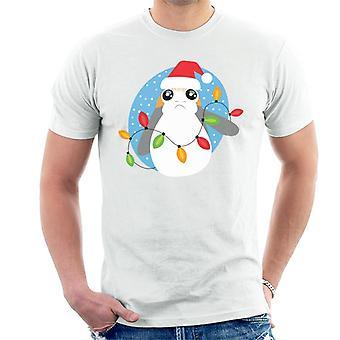 Star Wars Christmas Festive Porg Men's T-Shirt