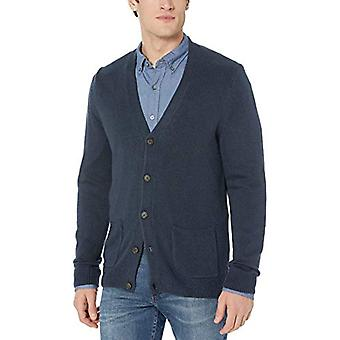 Brand - Goodthreads Men's Supersoft Marled Cardigan Sweater, Navy XX-L...