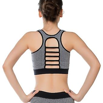 Jerf   Womens Rimini Black & White Seamless Sports bra