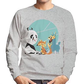 Panda Fox And Llama Friends Men's Sweatshirt
