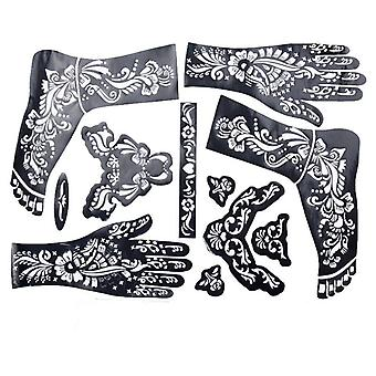 Hands/feet Tattoo Stencils For Airbrushing Professional Mehndi - Body Painting Kit Supplies