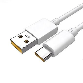 Official Oppo DL136 SuperVOOC USB Type C to USB Type A Data Cable - White (Bulk Packed)