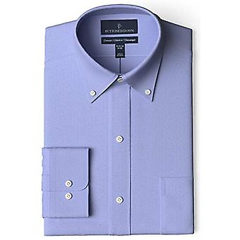 BUTTONED DOWN Men's Classic Fit Button-Collar Non-Iron Dress Shirt (Pocket), ...
