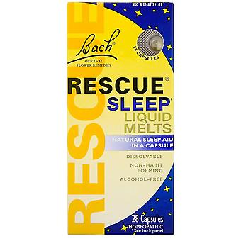 Bach, Original Flower Remedies, Rescue Sleep Liquid Melts, 28 Capsules
