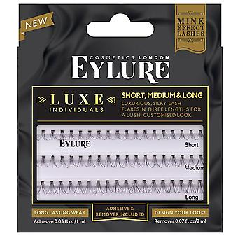 Eylure Luxe Faux Mink Individual Lashes Set - Lash Adhesive & Remover Included