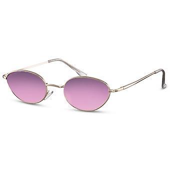 نظارات شمسية للجنسين البيضاوي الفضية / الأرجواني (CWI2432)