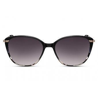 النظارات الشمسية السيدات فراشة كامل حافة كات. 3 أسود / أسود
