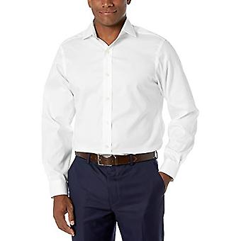 BUTTONED أسفل الرجال & ق الكلاسيكية صالح انتشار طوق الصلبة غير الحديد اللباس قميص (لا ...