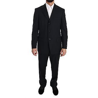 Ermenegildo Zegna Black Two Piece 3 Button Wool Suit KOS1370-50