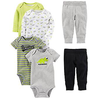 Simple Joys by Carter's Baby Boys 6-Piece Little Character Set, Green/Grey Rh...