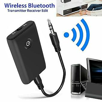 Bluetooth 5.0 Transmitter Receiver Tv Pc Car Speaker 3.5mm Aux - Home Stereo Device (black Bluetooth V5.0)