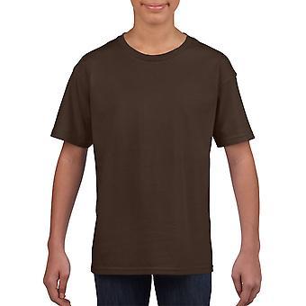 GILDAN G64000 Softstyle Men's T-Shirt in Dark Chocolate