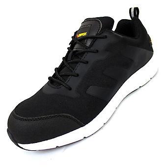 Mens Casual Safety Trainer Schoenen - Stalen Teen - Lichtgewicht ademende industriële sneakers