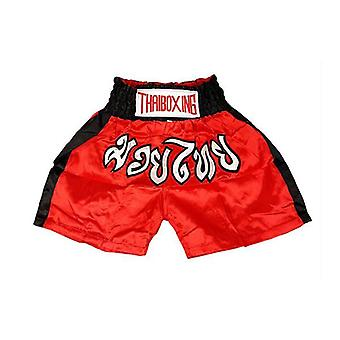 Kid Boxing Short Satin Red Black