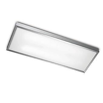 Leds-C4 - 2 lys medium rektangel Loft Light Aluminium