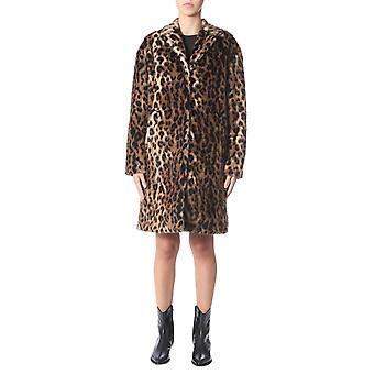 N°21 N0142830fa21 Women's Leopard Acryl Coat