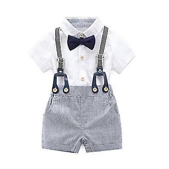 Boarnseorl Baby Boys Gentleman Outfits Suits, Infant Short Sleeve Shirt-Bib P...