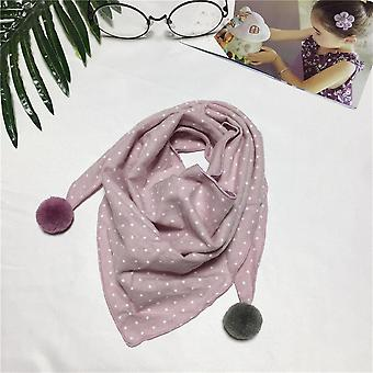Cute Cotton Scarf With Colorful Ball For Baby