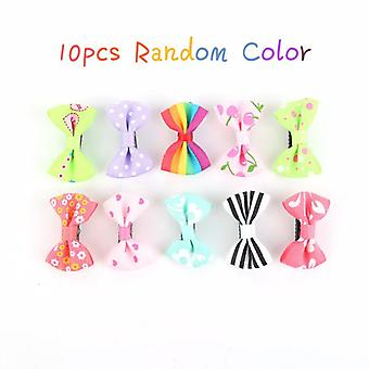 Fashion Baby Girls Hair Clip Colorful Bow Hairpins Accessories Cute Small Claws