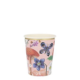 Meri Meri Kukka Paperi Party Cups Vintage Iltapäivä TeeKutsut x 8
