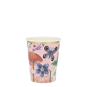 Meri Meri Floral Paper Party Cups Vintage Afternoon Tea Party x 8