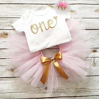 Baby Girl 1st Birthday Party Dress, Cute Pink Tutu Cake Outfits Dresses, Baby