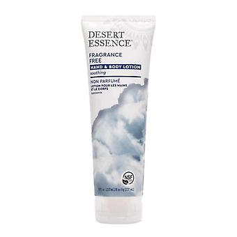 Desert Essence Fragrance Free Hand and Body Lotion, 8 OZ