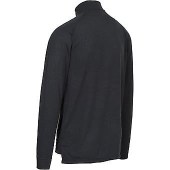 Trespass Adults Wise360 1/2 Zip Long Sleeve Quick Dry Thermal Top - Czarny