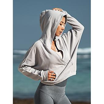Sweat à capuche Cotton Women, Confortable Running Training Pullover Loose Sweatshirt Soft