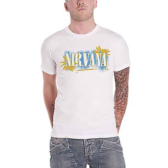 Nirvana T Shirt All Apologies Band Logo new Official Mens White