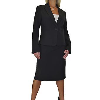 Women'ق الذكية اصطف بالكامل خفيفة الوزن القابلة للغسل 2 قطعة سترة تنورة البدلة الرسمية مكتب الحدث الأعمال 10-18