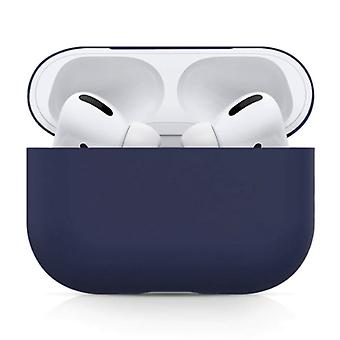 SIFREE Flexible Case for AirPods Pro - Silicone Skin AirPod Case Cover Smooth - Dark Blue