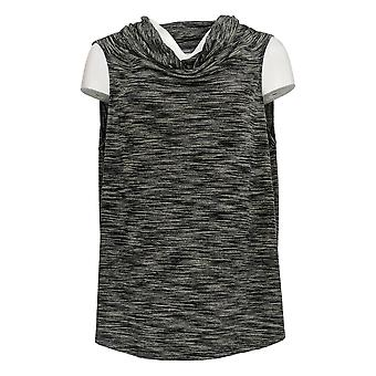 Lisa Rinna Collection Women's Top Sleeveless Stripped Black A290934