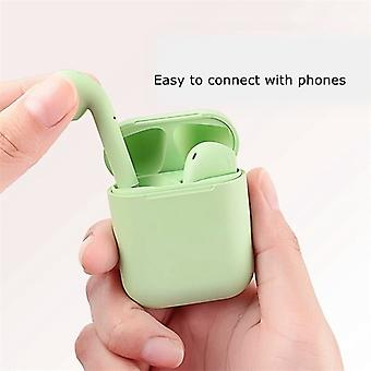 TWS inPods 12 Headphone Headset with Charging Box - Green Suitable for Android/IOS